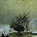 Friedrich Caspar David Wreck By The Sea by PixBreak Art