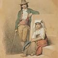 Friedrich Gonne  Two Italian Youths by Friedrich Gonne