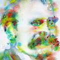 Friedrich Nietzsche - Watercolor Portrait.10 by Fabrizio Cassetta