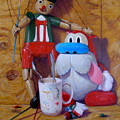 Friends 2  -  Pinocchio And Stimpy   by Donelli  DiMaria