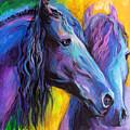 Friesian Horses Painting by Svetlana Novikova