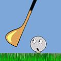 Frightened Golf Ball by Michal Boubin