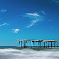 Frisco Fishing Pier In North Carolina Panorama by Ranjay Mitra