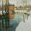 Frits Thaulow    A Chateau In Normandy by Frits Thaulow