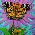 Frog And Butterfly by Nick Gustafson