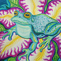Frog And Flower by Nick Gustafson