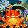 Frog And Flowers by Nick Gustafson