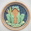 Frog Ceramic Plaque by Joseph Skompski