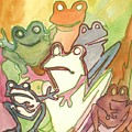 Frog Group Portrait by James Christiansen