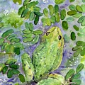 Frog In The Pond by Christine Burn