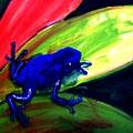 Frog On Leaf by Michael Grubb