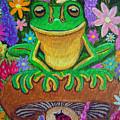 Frog On Mushroom by Nick Gustafson