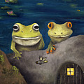 Frogland Detail by Leah Saulnier The Painting Maniac