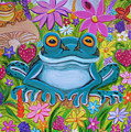 Frogs And Flowers by Nick Gustafson