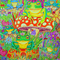 Frogs And Mushrooms by Nick Gustafson