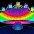Frogs And Rainbow Mushroom by Nick Gustafson