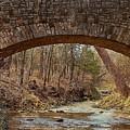 From Under Rock Creek Bridge In Winter by Sheila Brown
