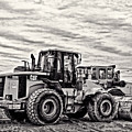 Front End Loader Black And White by Tom Gari Gallery-Three-Photography