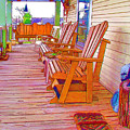 Front Porch On An Old Country House  1 by Jeelan Clark