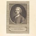 Frontispiece: J.j. Rousseau by Augustin De Saint-aubin After Maurice-quentin De La Tour