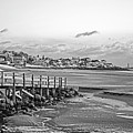 Frosty Morning On Good Harbor Beach Gloucester Ma Black And White by Toby McGuire