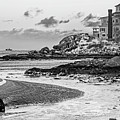 Frosty Morning On Good Harbor Beach Gloucester Ma Mansion Black And White by Toby McGuire