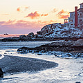 Frosty Morning On Good Harbor Beach Gloucester Ma Mansion by Toby McGuire