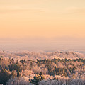 Frosty Valley Panorama by Chris Bordeleau