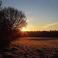 Frosty Winter Morning In The Weald Of Kent England by James Brunker