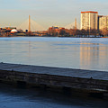 Frozen Dock On The Charles River by Toby McGuire