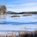Frozen Bryant Pond by Elizabeth Dow