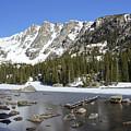 Frozen Colorado Lake by Brian Kamprath