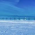 Frozen Lake Michgan At Grand Haven by Nick Zelinsky