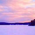 Frozen Lake Sunset 2  by Lyle Crump