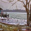 Frozen Niagara River by Ylli Haruni