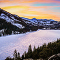 Frozen Reflections At Echo Lake by Mike  Herron