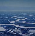 Frozen Yukon River - Alaska  by Galeria Trompiz
