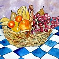 Fruit Basket Still Life 2 Painting by Derek Mccrea
