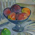 Fruit Dish On A Garden Chair by Paul Gauguin
