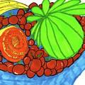 Fruit In A Blue Bowl by Elinor Helen Rakowski