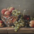 Fruit In A Crystal Bowl by Shelley  Thayer Layton