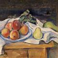 Fruit On A Table by Paul Cezanne