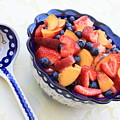 Fruit Salad With Spoon by Carol Groenen