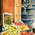 Fruit Shop In San Gimignano by Judy Swerlick