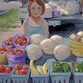 Fruit Stand Girl by Cathy France