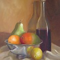 Fruit With Bottle Of Wine by Joni Dipirro