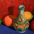 Fruit With Ceramic Vase by Terry Perham