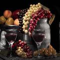 Fruity Wine Still Life Selective Coloring by Tom Mc Nemar