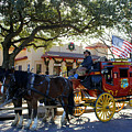 Ft Worth Stockyards Stagecoach  by Kathy White