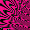 Fuchsia Peacock Feathers Fractal by Rose Santuci-Sofranko